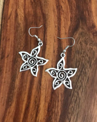 Resell for 9.00 or more Pewter boho star Surgical steel ear wires Style #BSE041318
