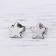 """resell for 9.00 or more 304 Stainless Steel Ear Post Stud Earrings Silver Tone Starfish 7mm( 2/8"""") x 7mm( 2/8""""), Post/ Wire Size: (21 gauge) Style #SSFPE041918"""