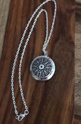 Resell for 21.00 or more Plated Copper aromatherapy essential oil diffuser necklace Pad and 20 inch chain included Style #EADN041918