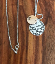 Resell for 18.00 or more 18 inch silver tone chain Be inspirational charm pendant.  Silver tone/ rose gold tone Style #BEIPN041918