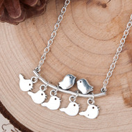 """resell for 9.00 Antique Silver & Silver Plated Mother Bird Branch 44.5cm(17 4/8"""") long Style # MBN053118"""