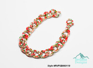 Painted steel, multicolored, 12mm twisted curb with flower pattern, 7.5 inches with lobster claw clasp Style #RVPSB060118