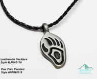 charm not included 3mm round 18 inch plus ext  woven leatherette necklace, lobster clasp  black   LN060118
