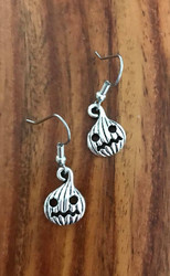 Resell for 5.00 or more Pewter mad pumpkin Halloween Surgical steel earwires Style #MPE070518g
