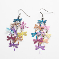 """resell for 15.00 or more Copper Earrings Multicolor Dragonfly Animal 74mm(2 7/8"""") x 32mm(1 2/8"""") Style #MCDCE073118"""
