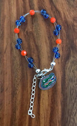 "Resell for 40.00 or more  7.5"" plus ext chain floating bracelet Official licensed Florida Gators Made by Ashley Style #FGOB080718"