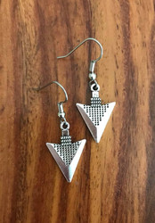 """Resell for 8.00 or more Pewter arrow earrings 7/8 x 5/8"""" Surgical steel ear wires Style #PAE081018"""