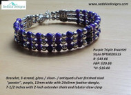 Purple Pewter Bracelet
