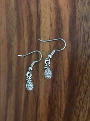 Resell for 5.00 or more Tiny pineapple Pewter Surgical steel ear wires Style #TPE091418g