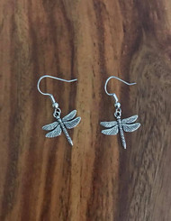 Resell for 6.00 or more Dragonfly  Surgical steel ear wires Style #DFE091418