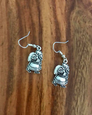 Resell for 6.00 or more Santa carrying sack  Pewter/ surgical steel ear-wires Style #SCGB091418
