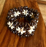 "Resell for 9.00 or more 7 inch stretch bracelet  1 1/4"" wide Two tone wood Style #TTWSBSE100518"