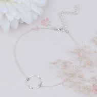 "resell for 9.00 or more 8 7/8"" plus ext chain dainty ankle bracelet  plated copper Style #PCA110618"