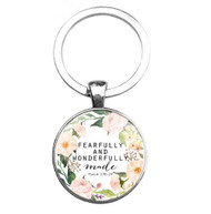 resell for 12.00 or more Bible Verse Key Chain / religious Psalm 139:14  Fearfully and wonderfully made  Style #BVKPS111618