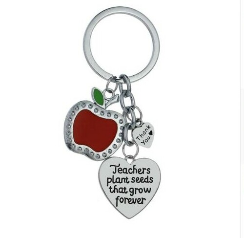 resell for 15.00 or more Teachers Plant Seeds That Grow Forever Keyring Red Apple Fruit Heart Key chain  Style #TKCA112118