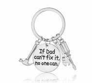 "resell for 15.00 or more ""If Dad Cant't Fix It,No One Can"" Hammer Wrench Screwdriver/ father/ dad gift/ key chain Style #DCF112118"
