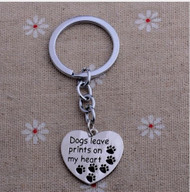 resell for 12.00 or more Dogs Leave Prints On My Heart /Dog/ Paw Print/  Pet Lover Key chain Style #DLPH112118