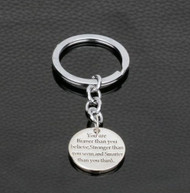 resell for 12.00 or more You Are Braver Than You Believe Stronger Than You Seem And Smarter Than You Think / Key Chain/ Positive Affirmation  Style #BSSK112118