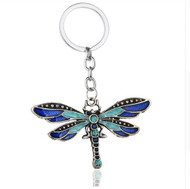 resell for 18.00 or more Boho  Dragonfly  Key ring  Key Chain/ Enamel Pewter Crystal. Style #DFK112118
