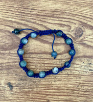 resell for 15.00 or more **AT WEBSITE Blue Sodalite (natural) and nylon, BLUE, 7- to 10-inch bracelet with macramé knot closure/ Unisex Style #BSB120718