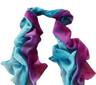"****This purchase will also donate 1 scarf with earrings to a cancer patient***Search scarves to find all the styles available   Teal Purple Chiffon Scarf. 19x56"" Style #TPCS010219"