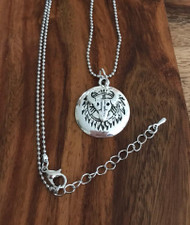 Resell for 12.00 or more Pewter cow skull Indian pendant  20 inch ball chain plus ext silver tone. Style #CSRN010418