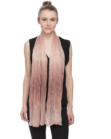 """**This purchase will also donate 1 scarf with earrings to a cancer patient** *Search scarves to find all the styles available   resell for 36.00 or more Brown Color Ruffle Mesh Pleated Oblong Scarf  • 25"""" x 66""""  •   100% POLYESTER   •   BROWN  Style #BFOS011119"""