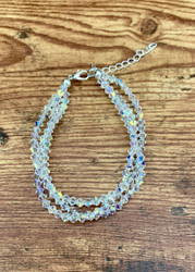 Each Bridal piece is hand made per your custom order at Sedalia Designs.  Over 140 swarovski crystals on this bracelet.  If you want this exact bracelet you only need to list the length.  Make your wedding day or after five event as brilliant and sparkling as you are!