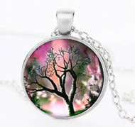 "resell for 15.00 or more Dusk Tree of Life Necklace. Silver tone 22"" chain Style #DTLN012319"
