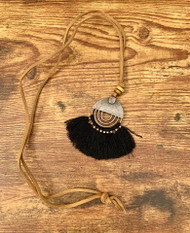 "resell for 18.00 or more Boho Chic Tassel Necklace/ Long Antique Bronze/ Black Tassel 78cm(30 6/8"") long Style #BCABBTN012319"