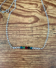 Customizable mom/ grandma / family necklace!  20 inch sterling silver roll chain  11 Swarovski crystals  *shown 5 birthstones and 6 clear crystal spacers. Choose up to 11