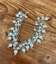 Chandelier Swarovski Crystal Bracelet Choose length Choose Pearl Color  Choose Crystal Color  Style #CSCB022319  Custom color consultation sales@sedaliadesigns.com  bridal designs take up to 6 weeks, ask about rush orders.