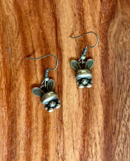 Cute Brass Bunny Earrings 2.00 resell for 6.00 or more steel earwires Style #CBBE032319
