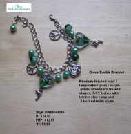 Green Bauble Bracelet