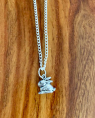 "4.00 resell for 12.00 or more 16"" silver tone chain. Pewter Bunny Style #PBN040119"
