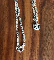 4.00 Resell for 12.00 or more 16 inch silver tone chain Pewter panda