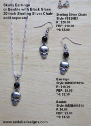 Skully Bauble - silver