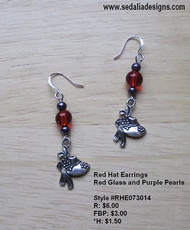 Red Hat Earrings