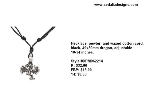 Awesome unisex dragon necklace