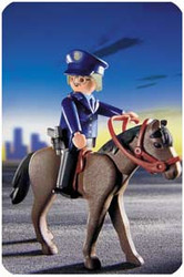 Playmobil Add-On Mounted Police on Horse #3167