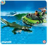 Playmobil Alligator Hunters' Hovercraft 4446