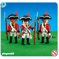 Playmobil Add-On 3 British Redcoat Soldiers #6229
