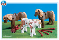 Playmobil Add-On 3 Ponies with Accessories #7112