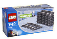 Lego World City Curved Track for 9V Trains 4520