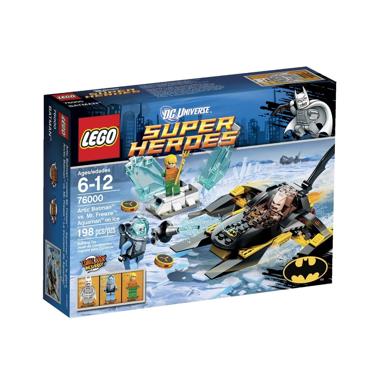 LEGO Mr Freeze Minifigure Marvel Super Heroes Batman and Freeze Gun