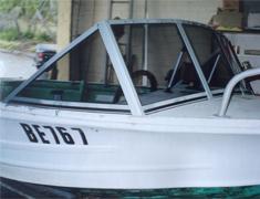 boat windscreen 4 piece clear