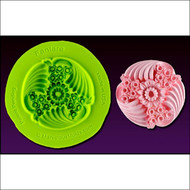 Fanfare Medallion--Marvelous Molds Silicone Mold