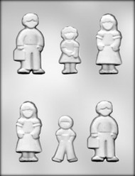 "2-1/2"" - 3-5/16"" FAMILY MEMBERS CHOCOLATE CANDY MOLD"
