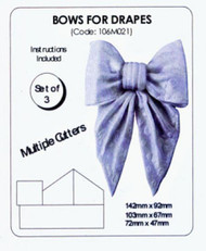 JEM BOWS FOR DRAPES SET/3