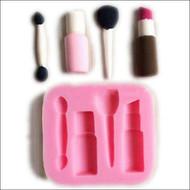 Makeup Brush, Lipstick & Nail Polish Silicone Mold